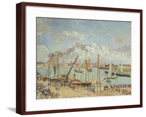 The Port of Le Havre, Afternoon, Sun, 1903-Camille Pissarro-Framed Art Print