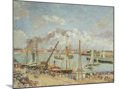 The Port of Le Havre, Afternoon, Sun, 1903-Camille Pissarro-Mounted Giclee Print