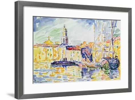 The Harbour at St. Tropez, c.1905-Paul Signac-Framed Art Print