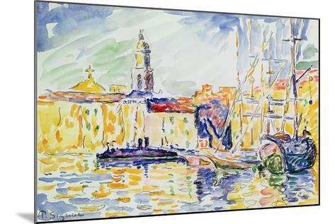 The Harbour at St. Tropez, c.1905-Paul Signac-Mounted Giclee Print