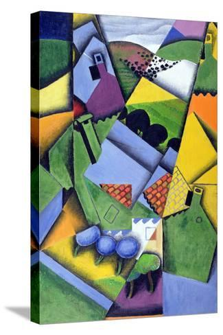 Landscape and Houses at Ceret, 1913-Juan Gris-Stretched Canvas Print