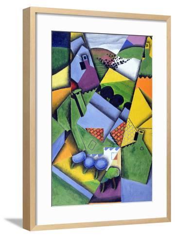 Landscape and Houses at Ceret, 1913-Juan Gris-Framed Art Print