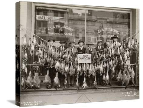 Result of a Duck Shoot Near Houston, Texas, USA, 1921- Litterst Commercial Photo Company-Stretched Canvas Print