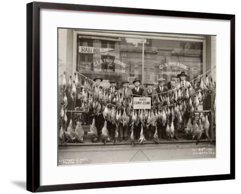 Result of a Duck Shoot Near Houston, Texas, USA, 1921- Litterst Commercial Photo Company-Framed Art Print