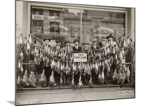 Result of a Duck Shoot Near Houston, Texas, USA, 1921- Litterst Commercial Photo Company-Mounted Photographic Print