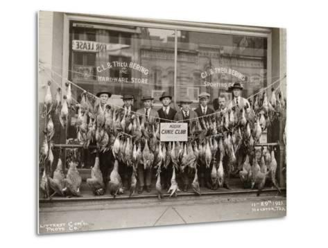 Result of a Duck Shoot Near Houston, Texas, USA, 1921- Litterst Commercial Photo Company-Metal Print