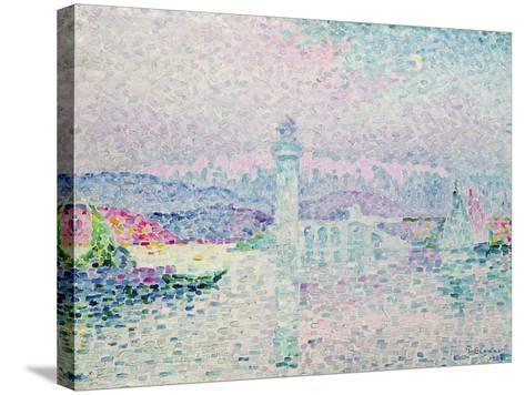 The Lighthouse at Antibes, 1909-Paul Signac-Stretched Canvas Print