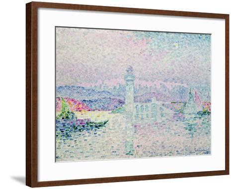 The Lighthouse at Antibes, 1909-Paul Signac-Framed Art Print