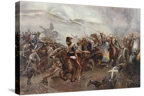 The Charge of the Light Brigade at the Battle of Balaclava on 25th October, 1854, Illustration…-Christopher Clark-Stretched Canvas Print