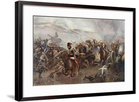 The Charge of the Light Brigade at the Battle of Balaclava on 25th October, 1854, Illustration…-Christopher Clark-Framed Art Print