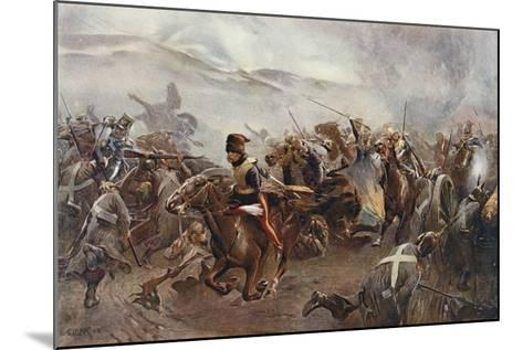 The Charge of the Light Brigade at the Battle of Balaclava on 25th October, 1854, Illustration…-Christopher Clark-Mounted Giclee Print