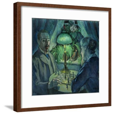 Playing Chess, 1925-Jean Paul Kayser-Framed Art Print