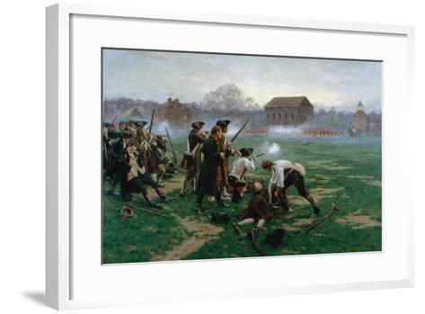 The Battle of Lexington, 19th April 1775, 1910-William Barnes Wollen-Framed Art Print