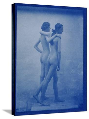 Two Models Embracing, 1904-Edward Linley Sambourne-Stretched Canvas Print
