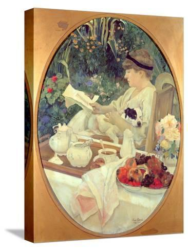 Tea in the Garden, 1910-Leon Georges Carre-Stretched Canvas Print
