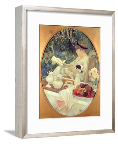 Tea in the Garden, 1910-Leon Georges Carre-Framed Art Print