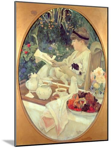 Tea in the Garden, 1910-Leon Georges Carre-Mounted Giclee Print