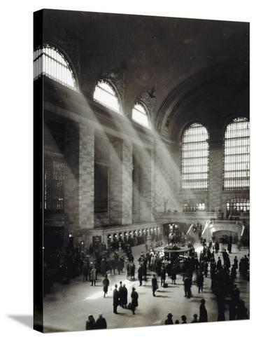 Holiday Crowd at Grand Central Terminal, New York City, c.1920-American Photographer-Stretched Canvas Print