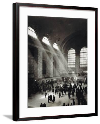 Holiday Crowd at Grand Central Terminal, New York City, c.1920-American Photographer-Framed Art Print