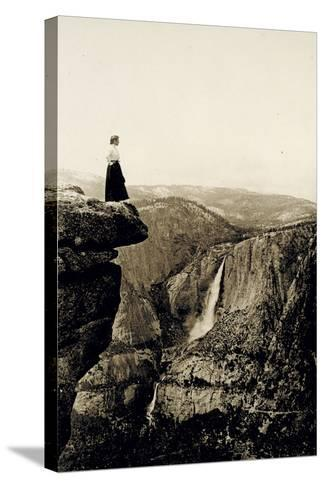 Looking across the Valley to Yosemite Falls, USA, 1917-Underwood & Underwood-Stretched Canvas Print