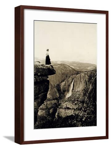 Looking across the Valley to Yosemite Falls, USA, 1917-Underwood & Underwood-Framed Art Print