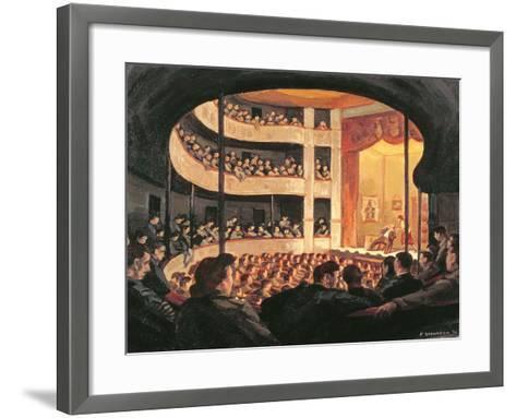 Entertainment at the Garrison Theatre, Bayeux, 1946-Paul Goranson-Framed Art Print