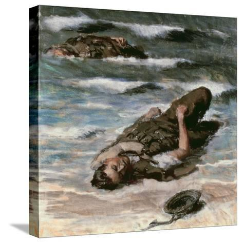 Casualty on the Beach at Dieppe, 1945-Alfred Hierl-Stretched Canvas Print