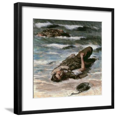 Casualty on the Beach at Dieppe, 1945-Alfred Hierl-Framed Art Print