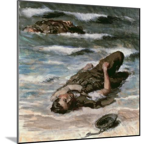 Casualty on the Beach at Dieppe, 1945-Alfred Hierl-Mounted Giclee Print