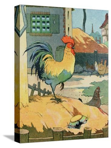 The Cock, Illustration from 'Le Buffon de Benjamin Rabier', Adapted from 'Histoire Naturelle' of?-Benjamin Rabier-Stretched Canvas Print