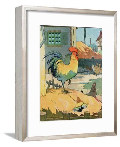 The Cock, Illustration from 'Le Buffon de Benjamin Rabier', Adapted from 'Histoire Naturelle' of?-Benjamin Rabier-Framed Art Print