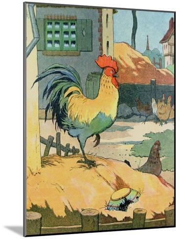 The Cock, Illustration from 'Le Buffon de Benjamin Rabier', Adapted from 'Histoire Naturelle' of?-Benjamin Rabier-Mounted Giclee Print