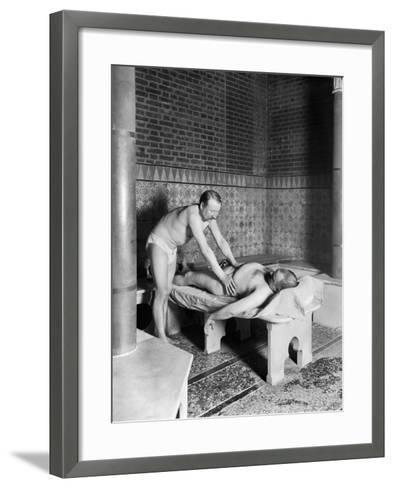 A Hammam in Paris, c.1900-French Photographer-Framed Art Print