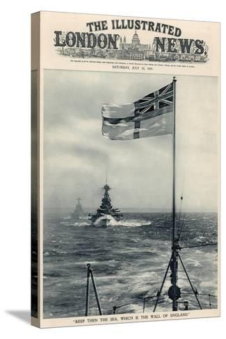 'Keep Then the Sea, Which Is the Wall of England', from 'The Illustrated London News Royal Naval…-English School-Stretched Canvas Print