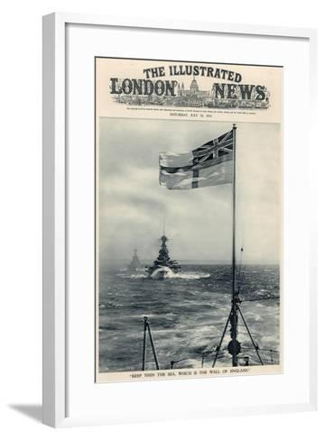 'Keep Then the Sea, Which Is the Wall of England', from 'The Illustrated London News Royal Naval…-English School-Framed Art Print