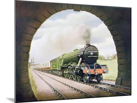 The 'Queen of Scots' of the North Eastern Railway, Illustration from 'The Wonder Book of…-English School-Mounted Giclee Print