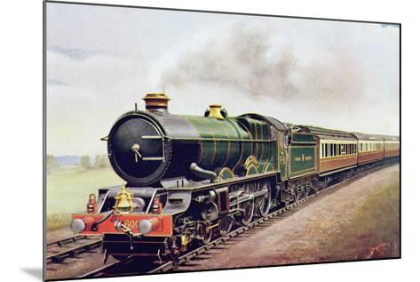 'King George V' of the G.W.R Cornish Railway Express, Illustration from 'The Wonder Book of?-English School-Mounted Giclee Print