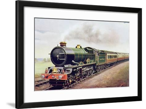 'King George V' of the G.W.R Cornish Railway Express, Illustration from 'The Wonder Book of?-English School-Framed Art Print