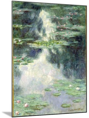 Pond with Water Lilies, 1907-Claude Monet-Mounted Giclee Print