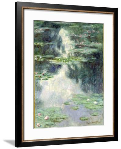 Pond with Water Lilies, 1907-Claude Monet-Framed Art Print