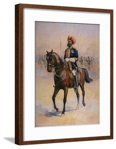 Soldier of the 14th Murray's Jat Lancers, Risaldar-Major, Illustration for 'Armies of India' by…-Alfred Crowdy Lovett-Framed Art Print