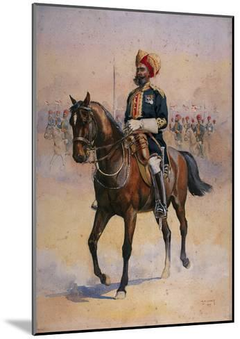 Soldier of the 14th Murray's Jat Lancers, Risaldar-Major, Illustration for 'Armies of India' by…-Alfred Crowdy Lovett-Mounted Giclee Print