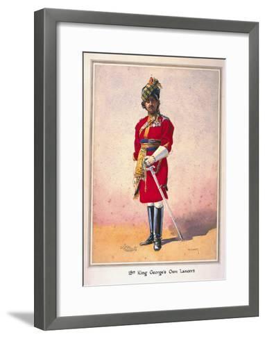 Honorary Lieutenant Hon Malik Umar Hayat Khan, Cie, Tiwana of Ahahpur (Punjabi Musalman)…-Alfred Crowdy Lovett-Framed Art Print