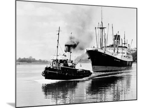 Steel and Bennie's Tug 'Brigadier' in Action, 1955--Mounted Photographic Print