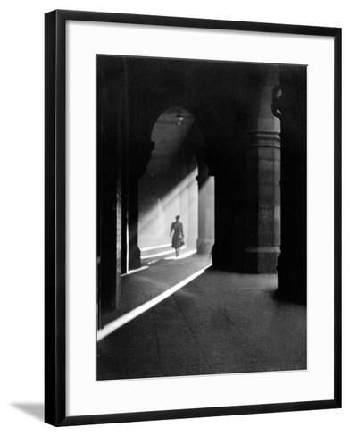 The Arches in Howard Street, 1955--Framed Art Print
