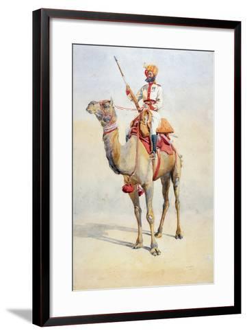 Sowar of the Bikanir Camel Corps, Illustration for 'Armies of India' by Major G.F. MacMunn,…-Alfred Crowdy Lovett-Framed Art Print