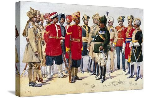 Imperial Service Troops, Illustration from 'Armies of India' by Major G.F. MacMunn, Published in?-Alfred Crowdy Lovett-Stretched Canvas Print