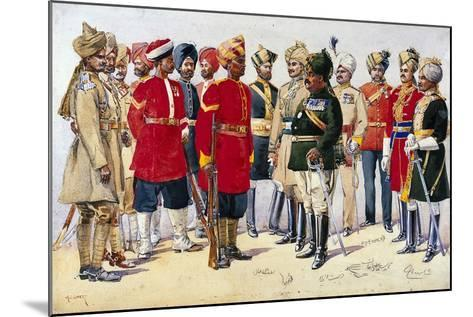 Imperial Service Troops, Illustration from 'Armies of India' by Major G.F. MacMunn, Published in?-Alfred Crowdy Lovett-Mounted Giclee Print
