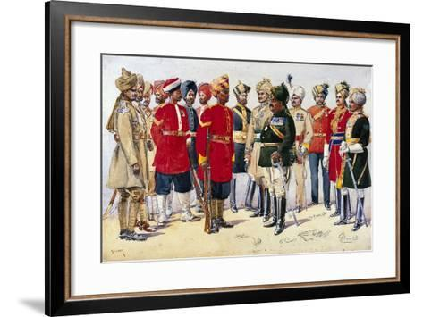 Imperial Service Troops, Illustration from 'Armies of India' by Major G.F. MacMunn, Published in?-Alfred Crowdy Lovett-Framed Art Print