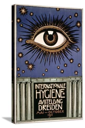 Advertisement for the 'First International Hygiene Exhibition' in Dresden, Printed by Leutert Und?-Franz von Stuck-Stretched Canvas Print